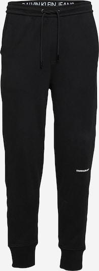 Calvin Klein Jeans Pantalón deportivo en negro / blanco, Vista del producto
