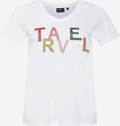 Zizzi Shirt 'FIERCE' in de kleur Geel / Spar / Pitaja roze / Watermeloen rood / Wit, Productweergave
