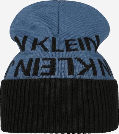 Calvin Klein Jeans Mütze in rauchblau / schwarz, Produktansicht
