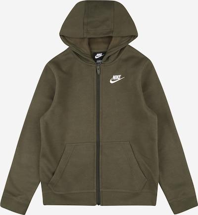 Nike Sportswear Sweatjacke in khaki / weiß, Produktansicht