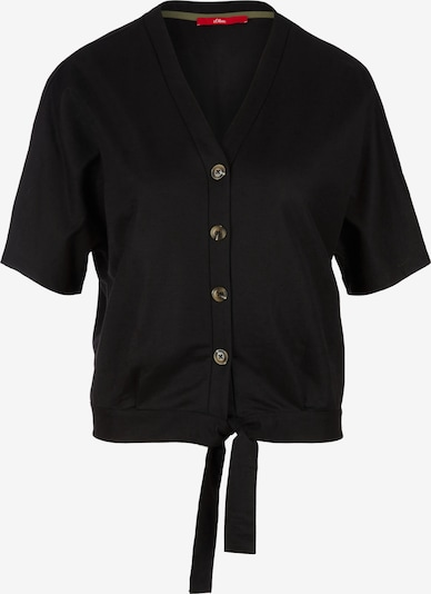 s.Oliver T-shirt en noir, Vue avec produit