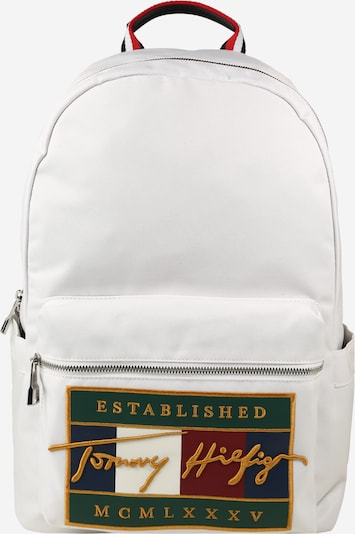 TOMMY HILFIGER Backpack in navy / gold yellow / dark green / merlot / white, Item view