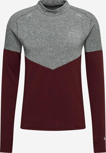 NIKE Sport sweatshirt 'Sphere Run Division' i gråmelerad / vinröd, Produktvy