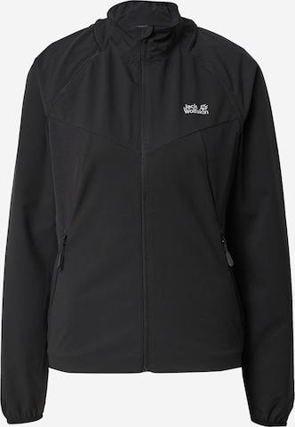 JACK WOLFSKIN Athletic Jacket 'TANDEM' in Black