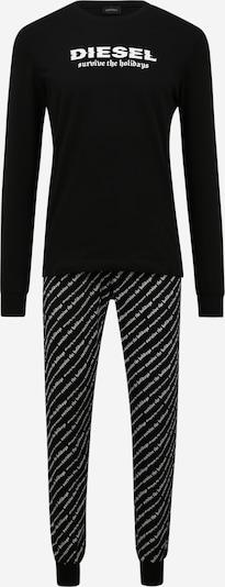 Pijama lungă 'JULIO-DIEGOS' DIESEL pe negru / alb, Vizualizare produs