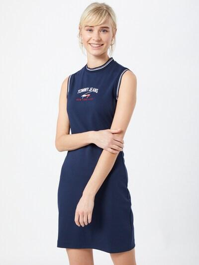 Tommy Jeans Kleid in navy / rot / weiß, Modelansicht