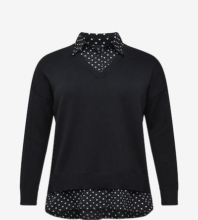 Lauren Ralph Lauren Trui in de kleur Donkergrijs / Zwart / Wit, Productweergave