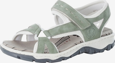RIEKER Sandal in Mint / White, Item view