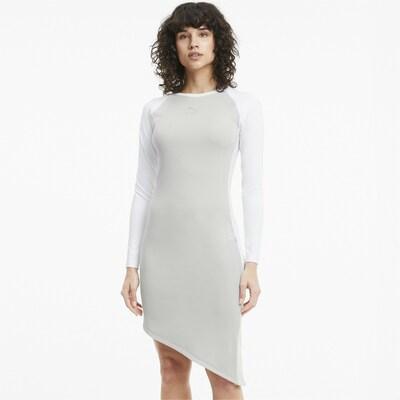 PUMA Kleid in grau / weiß, Modelansicht