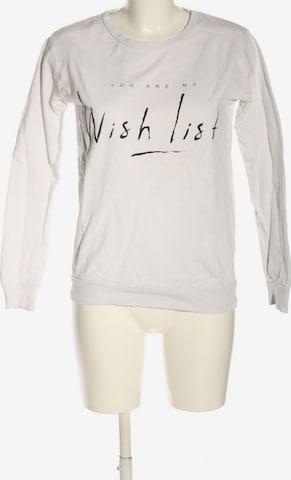 Pull&Bear Sweatshirt in S in Weiß