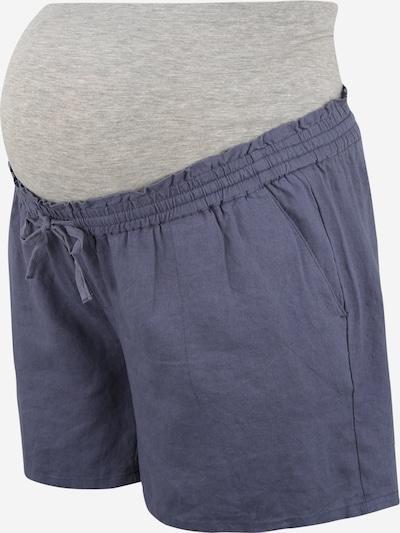 Mamalicious Curve Shorts in taubenblau / graumeliert, Produktansicht