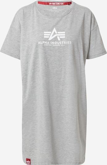 ALPHA INDUSTRIES Shirt in graumeliert / weiß, Produktansicht