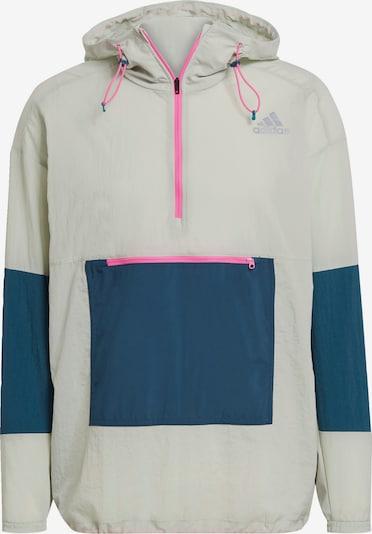 ADIDAS PERFORMANCE Sportjacke 'Adapt' in dunkelblau / pastellgrün / pink, Produktansicht