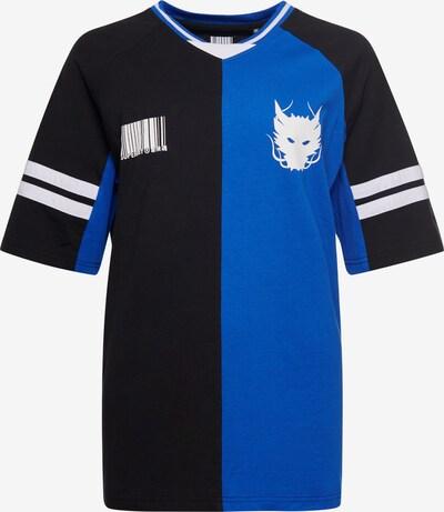 Superdry T-Shirt en bleu / noir / blanc, Vue avec produit