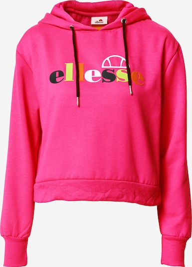 ELLESSE Sweatshirt 'GAETANA' in gelb / orange / pink / schwarz / weiß, Produktansicht