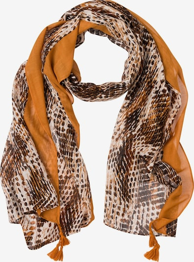 Olsen Schal in braun / orange / weiß, Produktansicht