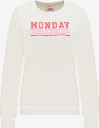 MYMO Sweatshirt in de kleur Pink / Wit, Productweergave