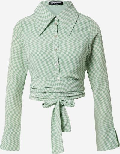 Fashion Union Blūze 'HAMMER', krāsa - zaļš / pasteļzaļš, Preces skats