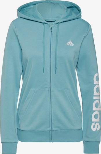 ADIDAS PERFORMANCE Sportief sweatvest in de kleur Jade groen / Wit, Productweergave