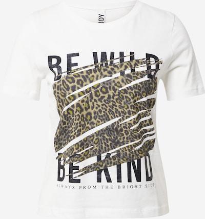 JDY T-shirt 'WILD' i brun / svart / vit, Produktvy