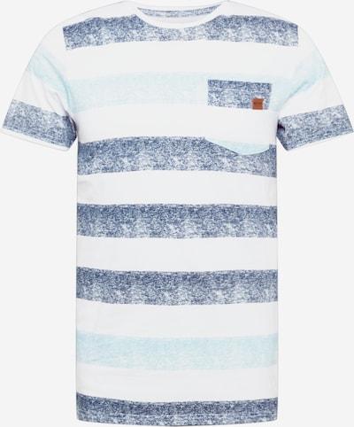 INDICODE JEANS T-Shirt 'Hernandez' en opal / bleu foncé / blanc, Vue avec produit