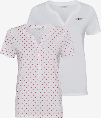 Tom Tailor Polo Team Bluse in rot / weiß, Produktansicht