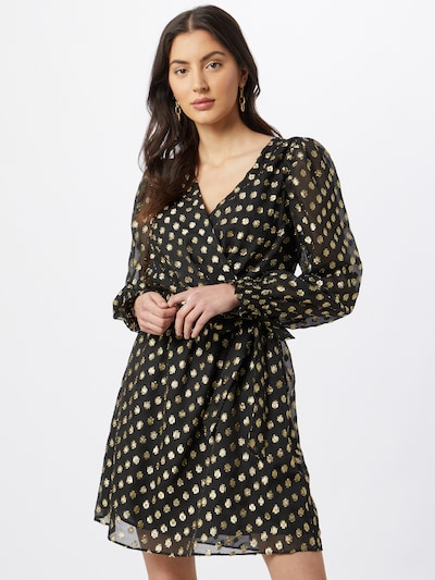 NAF NAF Kleid in beige / schwarz, Modelansicht