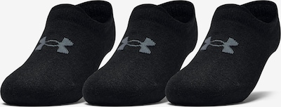 UNDER ARMOUR Sports socks 'Essential' in Black: Frontal view