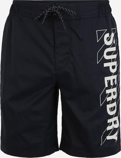 Superdry Boardshorts in schwarz / weiß, Produktansicht