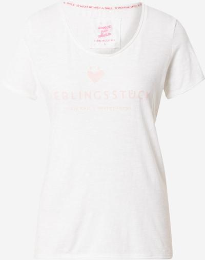 LIEBLINGSSTÜCK T-Krekls 'Cia', krāsa - pasteļoranžs / raibi balts, Preces skats