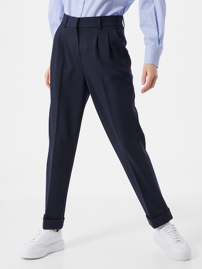 OPUS Pleat-front trousers 'Mareni' in Night blue, View model