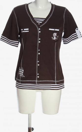 Wissmach V-Ausschnitt-Shirt in L in braun / weiß, Produktansicht