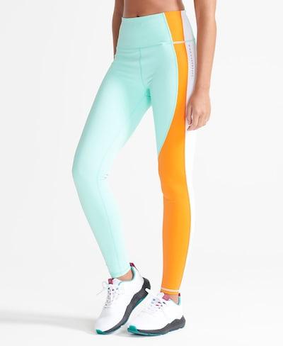 Superdry Leggings en turquoise / orange / blanc, Vue avec modèle