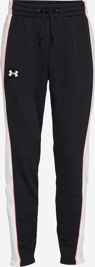 UNDER ARMOUR Pantalón deportivo 'RIVAL FLC ALMA MATER' en negro / blanco, Vista del producto