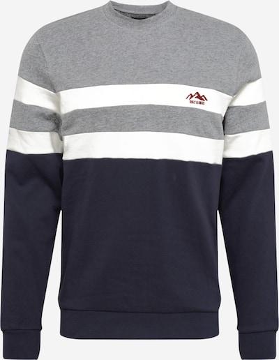 Only & Sons Sweater majica 'DAMAS' u mornarsko plava / siva / bijela, Pregled proizvoda