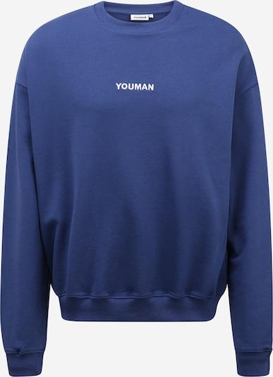 Youman Sweater majica 'Casper' u mornarsko plava / bijela, Pregled proizvoda