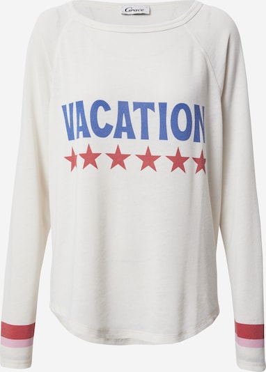 Grace Sweatshirt 'VACATION' in Blue / Light pink / Light red / White, Item view