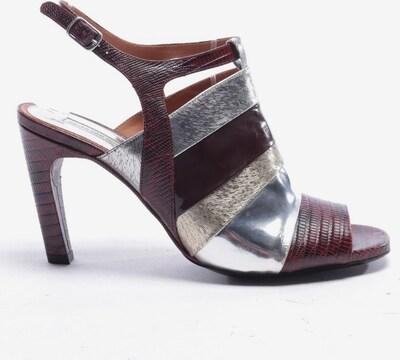 Dries Van Noten Sandaletten in 39,5 in weinrot, Produktansicht