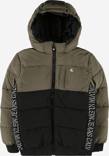 Giacca invernale Calvin Klein Jeans di colore oliva / nero / bianco, Visualizzazione prodotti
