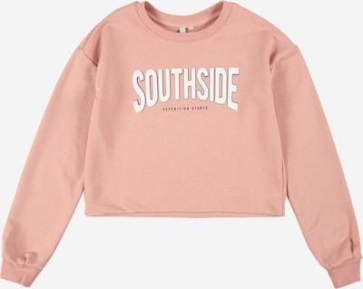 Little Pieces Sweatshirt in rosa / weiß, Produktansicht