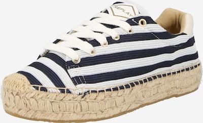 REPLAY Chaussure à lacets en bleu marine / blanc, Vue avec produit