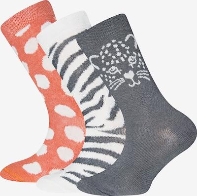 EWERS Socken in dunkelblau / orange / weiß, Produktansicht