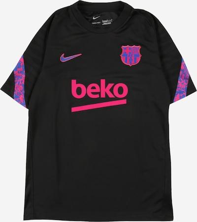Tricou funcțional NIKE pe albastru / roz neon / negru, Vizualizare produs