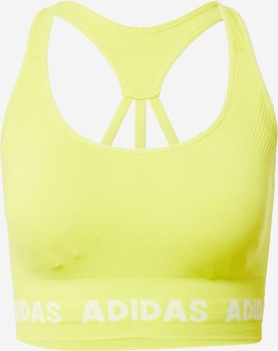 ADIDAS PERFORMANCE Športni nederček 'T AEROKNIT BRA' | rumena / bela barva, Prikaz izdelka