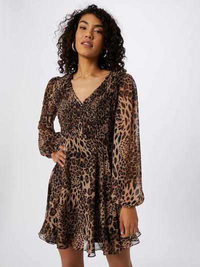 Skirt & Stiletto Kleid in karamell / kastanienbraun / hellbraun, Modelansicht