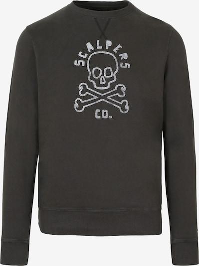 Bluză de molton Scalpers pe gri bazalt / alb, Vizualizare produs