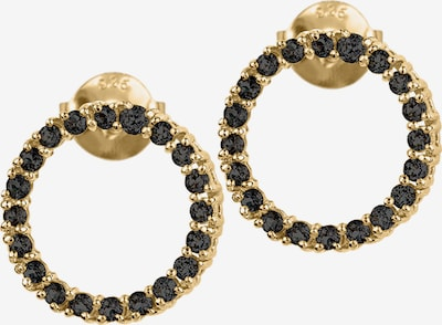 Jacques Lemans Earrings in Gold / Black, Item view