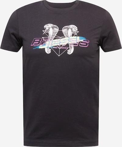 DIESEL T-Shirt  'DIEGOS' in himmelblau / pink / schwarz / weiß, Produktansicht