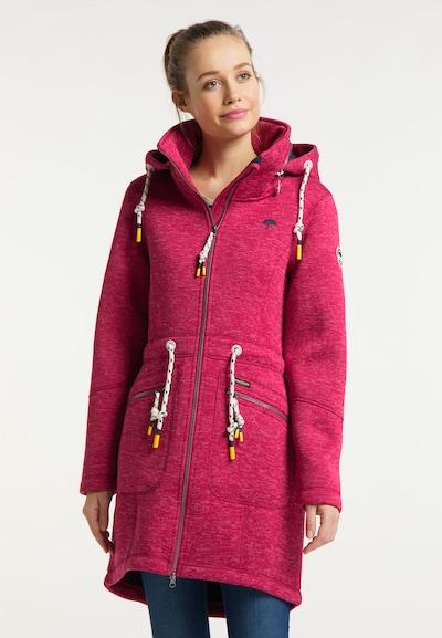 Schmuddelwedda Gebreide mantel in de kleur Pink, Modelweergave