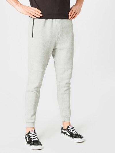 Hailys Men Pantalon 'Tobias' en gris chiné, Vue avec modèle